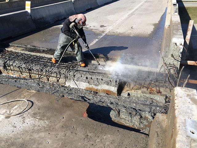 hydrojetten beton Sfeerfoto Infra&Bouw